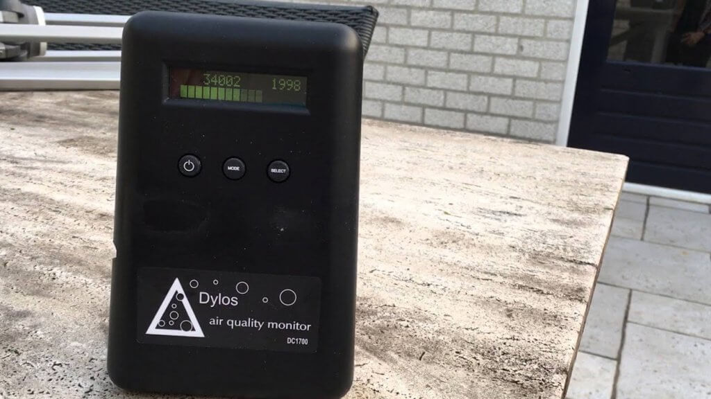 Dylos DC1100HM Pro Air Quality Monitor outdoors