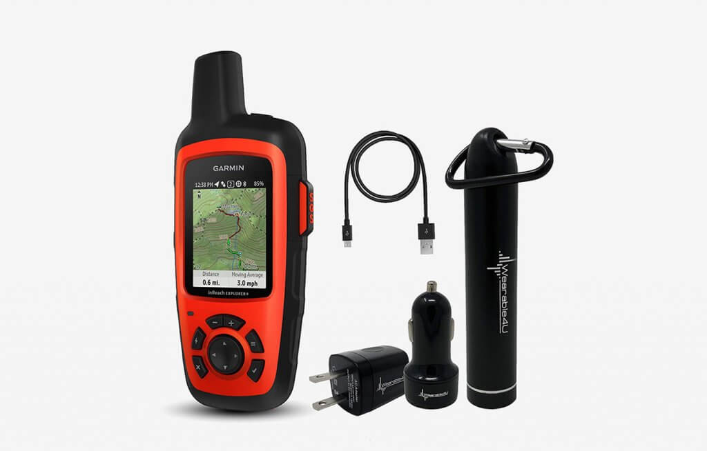 Garmin InReach Explorer  and accessories