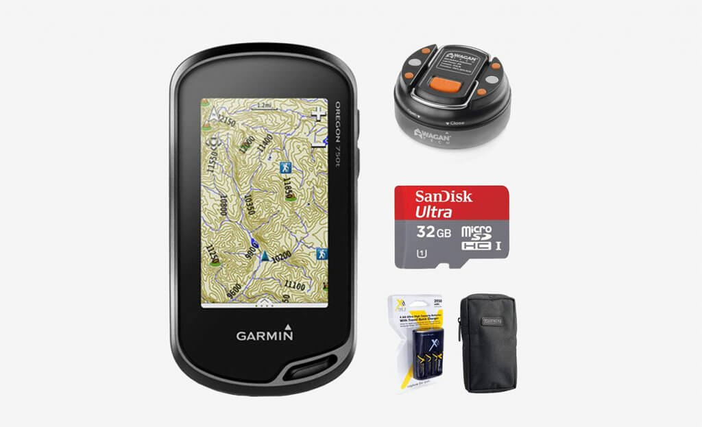 Garmin Oregon 750t Handheld GPS and accessories