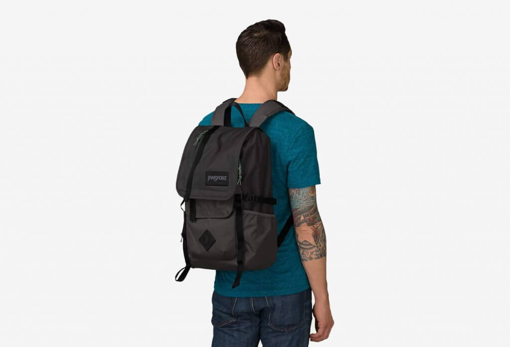 JanSport Hatchet Backpack worn my college student