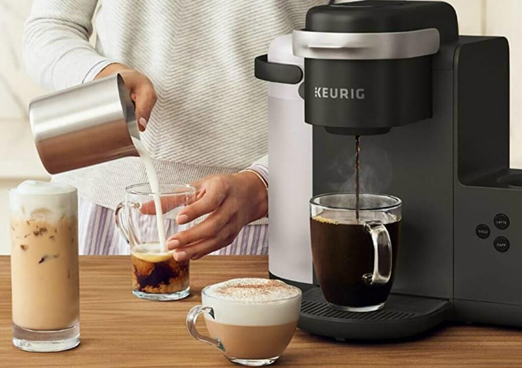Keurig K-Cafe Coffee Maker and iced coffee