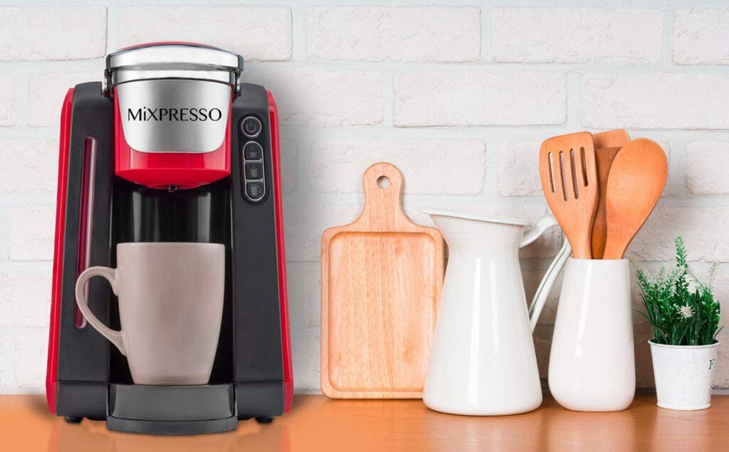 Mixpresso – Single-Serve K-Cup Coffee Maker in hte kitchen