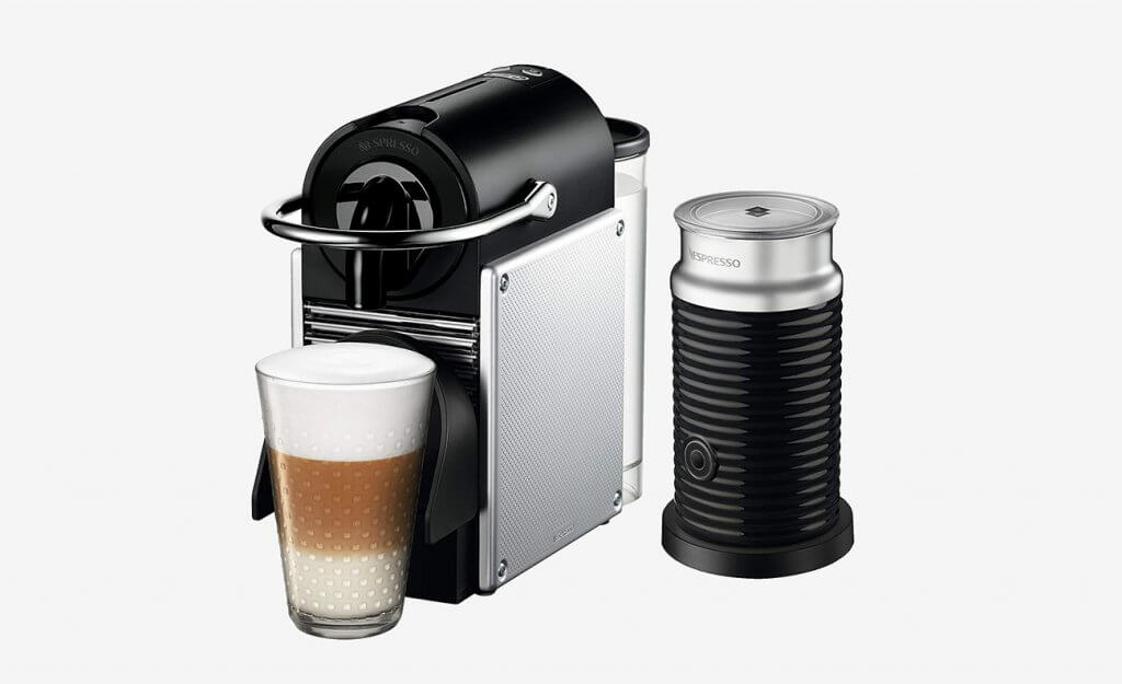 Nespresso by De'Longhi EN125SAE Bundle with Aeroccino Milk Frother