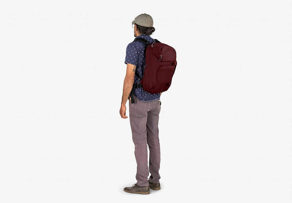 Osprey Metron Bike Commuter Backpack worn by student