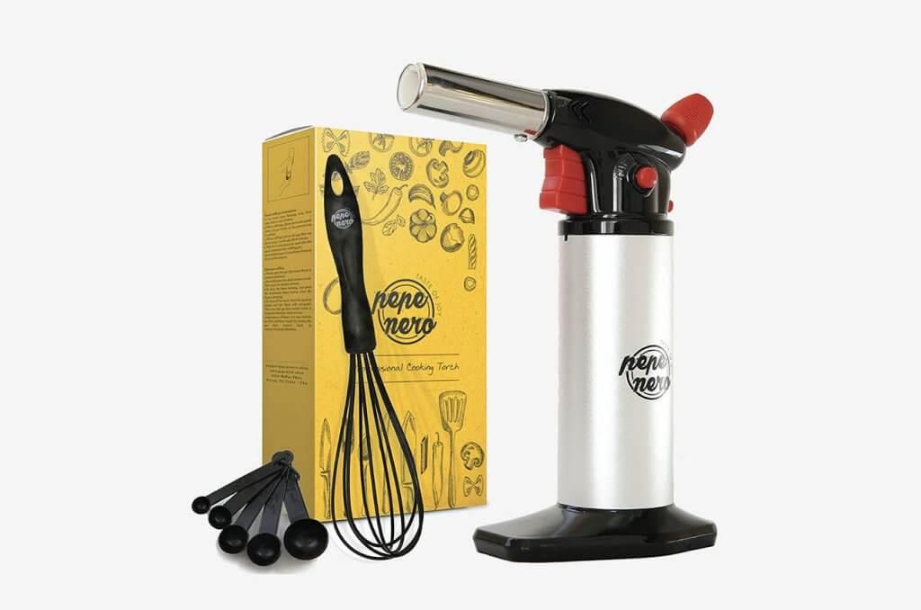 Pepe Nero Milano Butane Kitchen Torch and accessories