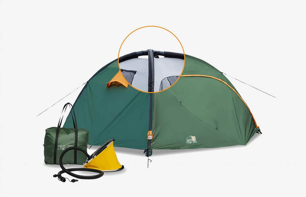 Ryno Tuff Four Person Inflatable Camping Air Tent and pump
