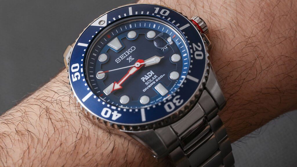 Seiko Men's Prospex on wrist