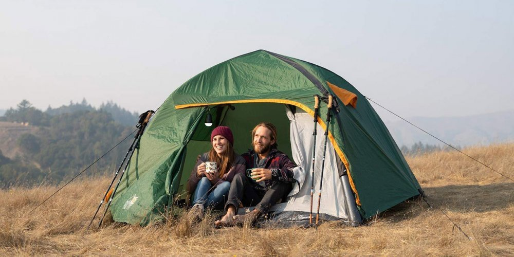 Inflatable Tent on a camping ground