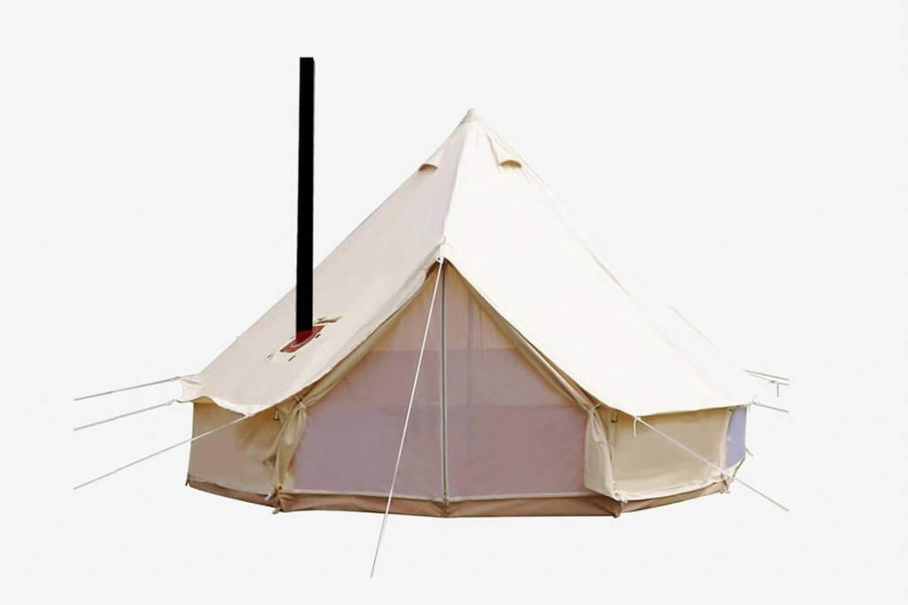 UNISTRENGH 4 Season Waterproof Cotton Canvas Bell Tent