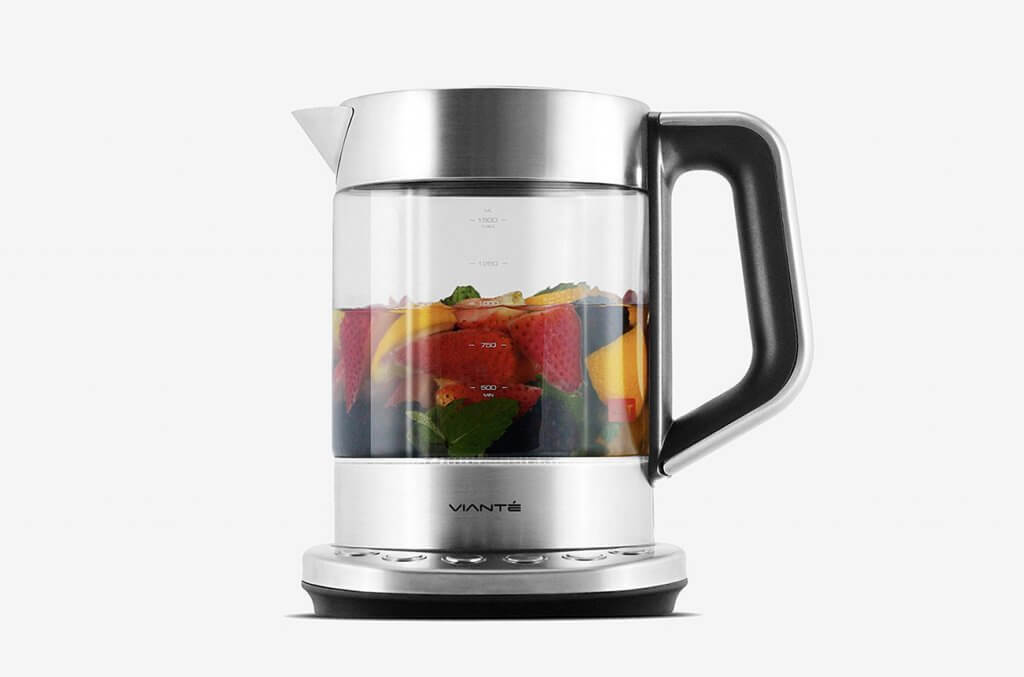 Brewing fresh fruit tea in the Viante Electric Kettle