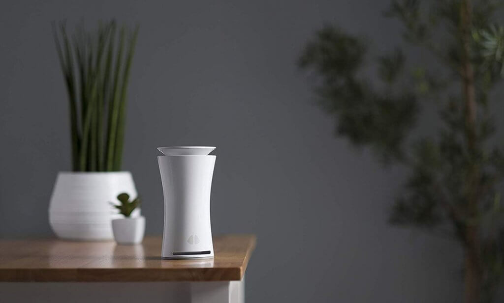 uHoo Indoor Air Quality Sensor on a table