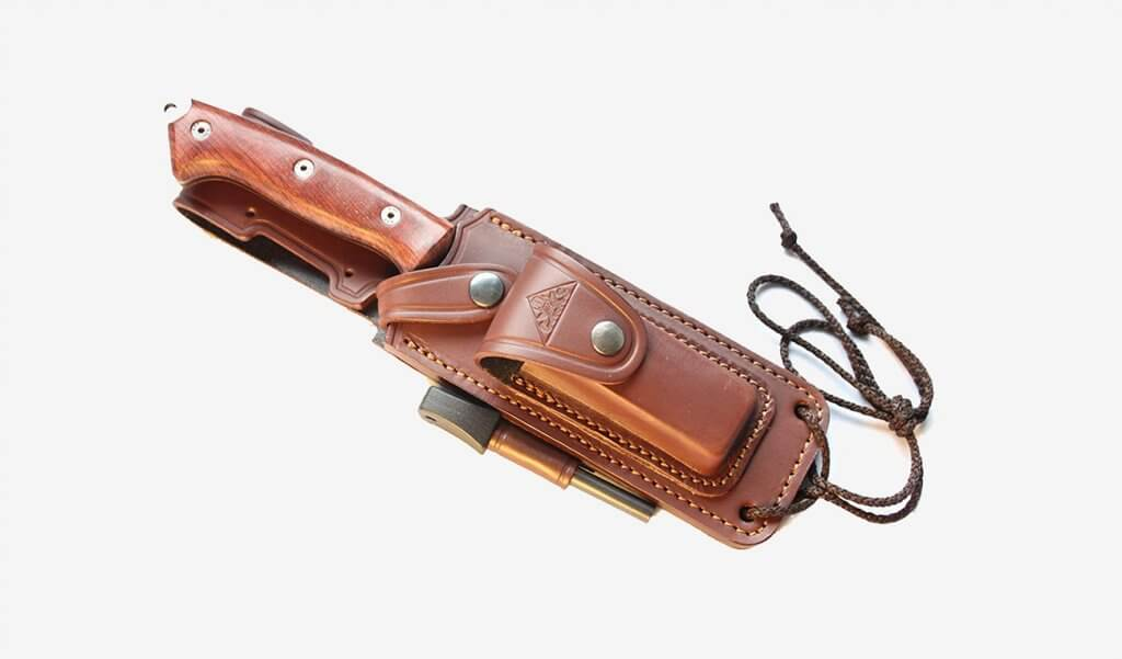 Celtibero Cocobolo Tactical Knife in sheath