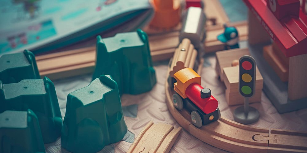 Toy train for a 3 year old boy