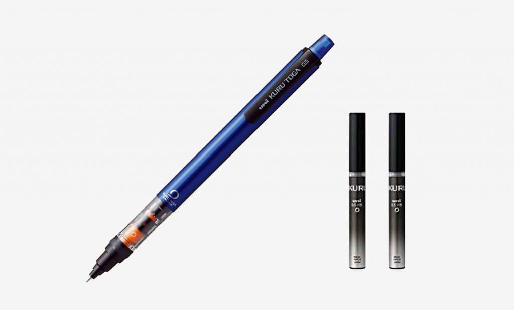 Uni Mechanical Pencil Kurutoga Pipe Slide Model 0.5mm With Blue Body