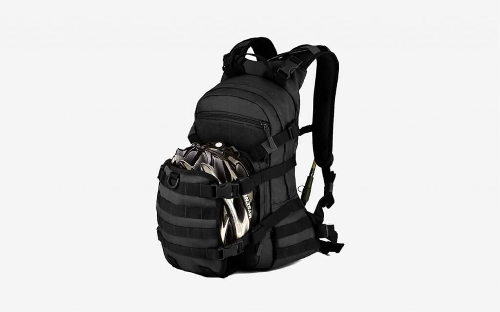ArcEnCiel 25L Tactical Motorcycle Cycling Backpack with helmet