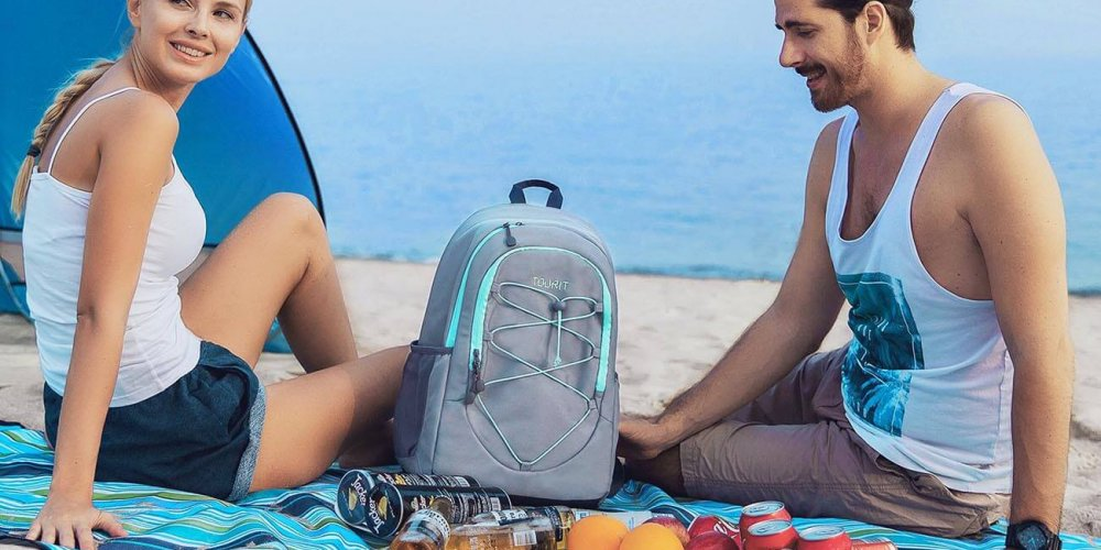Backpack Cooler on the beach