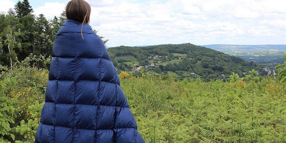 Camping Blanket on a hiking trip