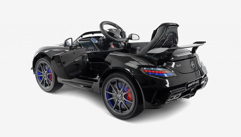 Carbon Black SLS AMG Mercedes Benz Car for Kids