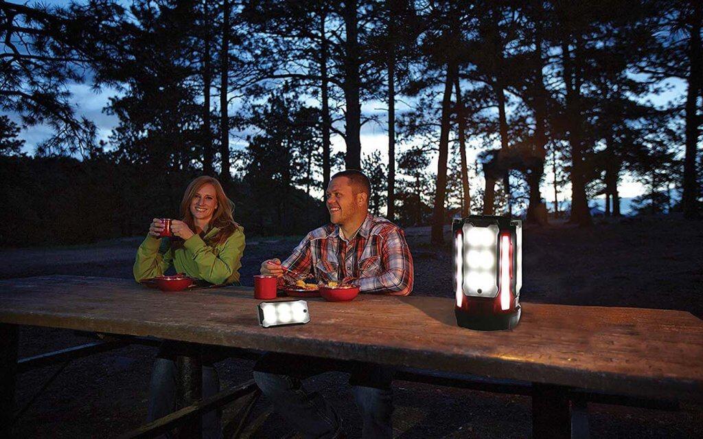 Coleman Multi-Panel LED Lantern on a hiking trip