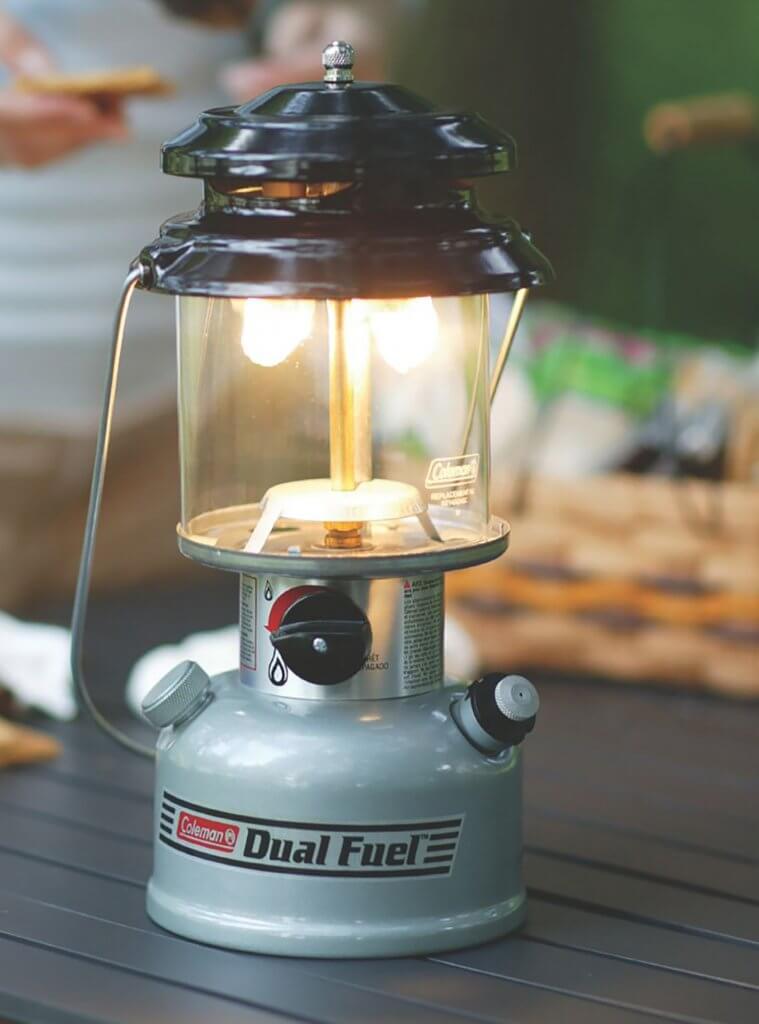Close-up of the Coleman Premium Dual Fuel Lantern