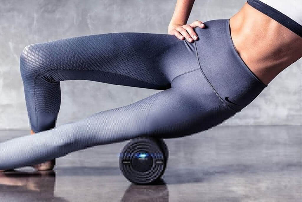 Hyperice Vyper 2.0 High-Intensity Vibrating Fitness Roller in gym