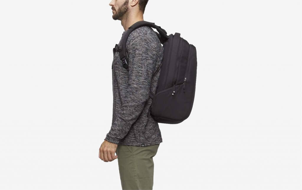 model wearing the Incase Icon Pack