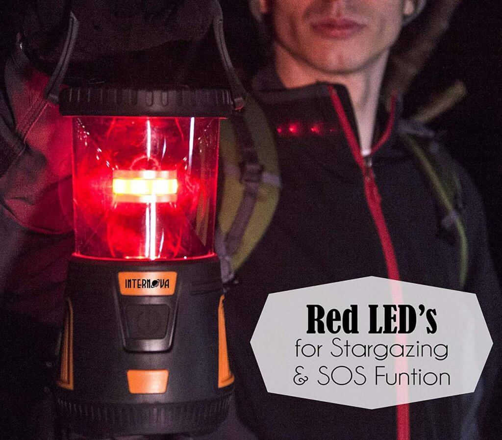 Internova Rechargeable LED Camping Lantern red light