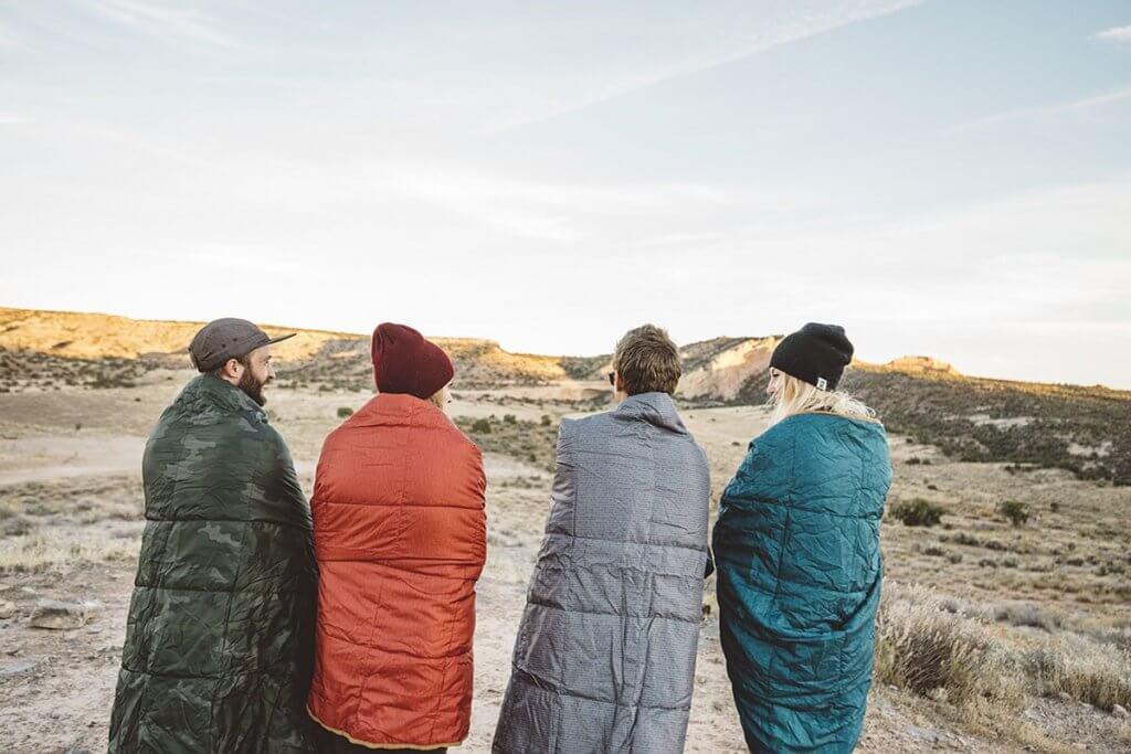 Kelty Bestie Blanket on a camping trip