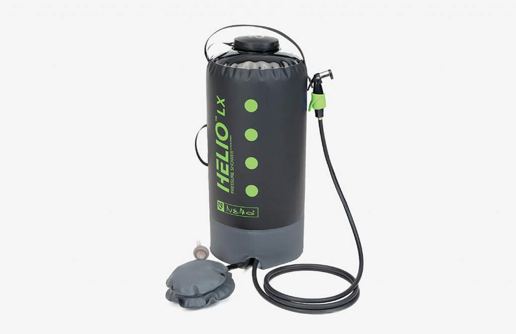 Nemo Helio Portable Pressure Shower with Foot Pump