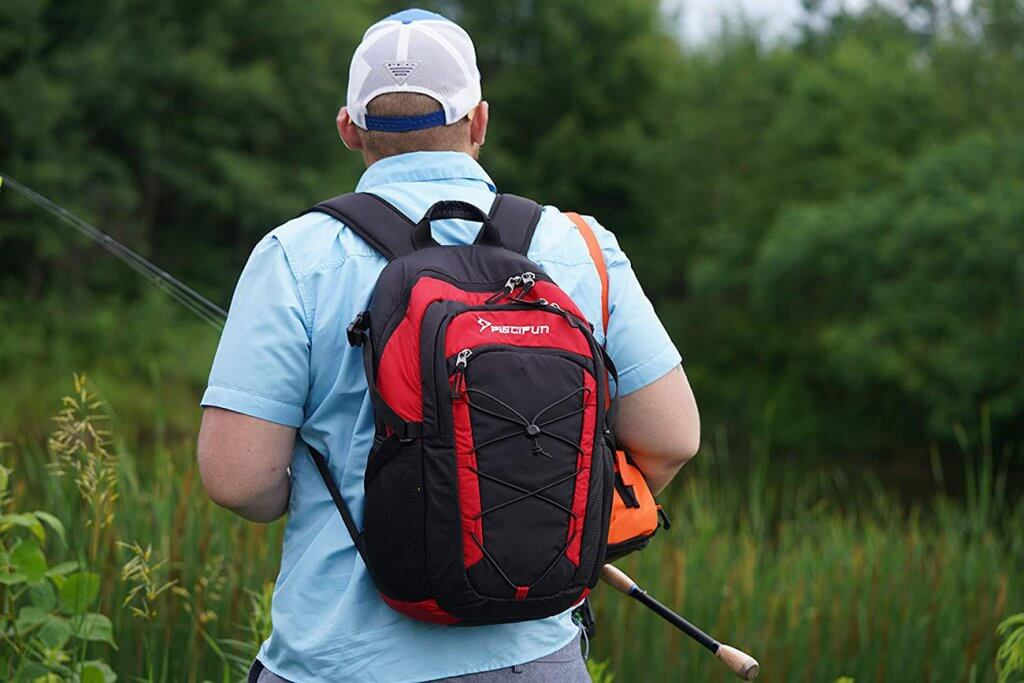 Piscifun Insulated Cooler Backpack on a fishing trip