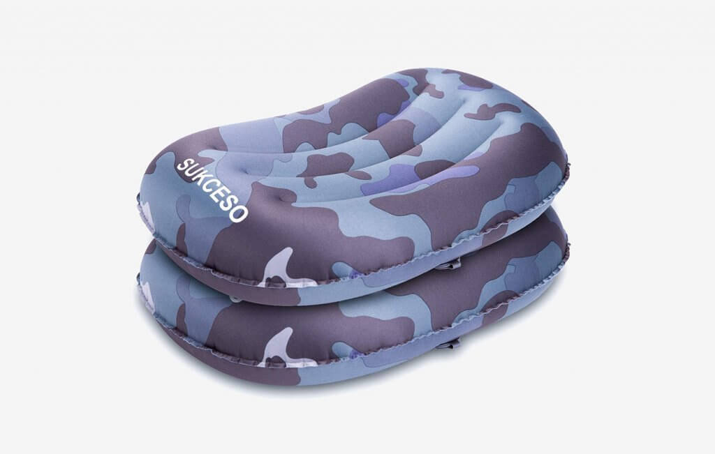 SUKCESO Camping Pillow Two Pack