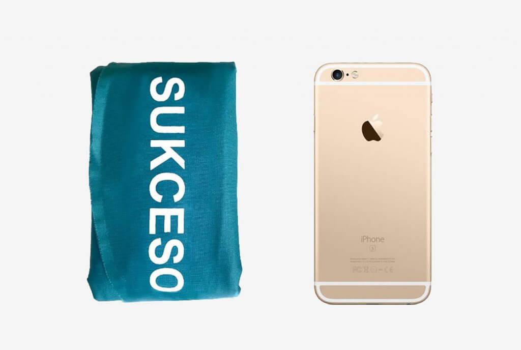 Size comparison of the SUKCESO Camping Pillow