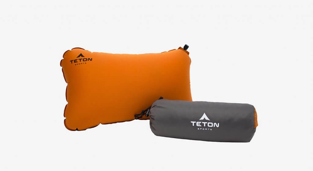 TETON Sports ComfortLite Self-Inflating Pillow and case