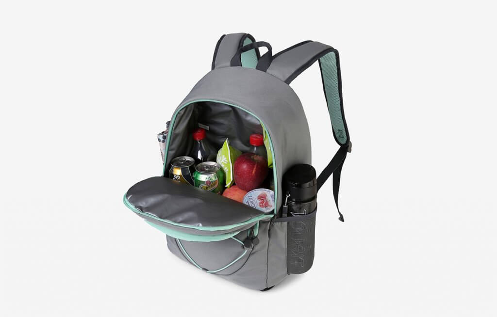 TOURIT Insulated Backpack Cooler and lots of drinks