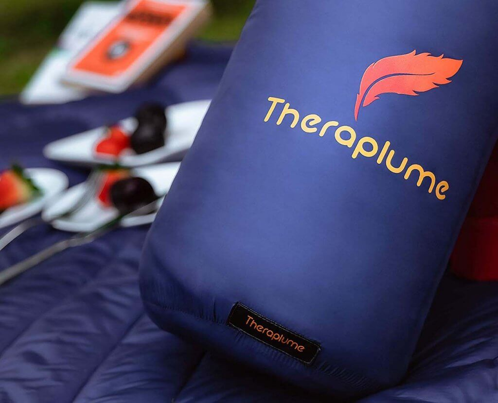 Close-up of the Theraplume Camping Blanket