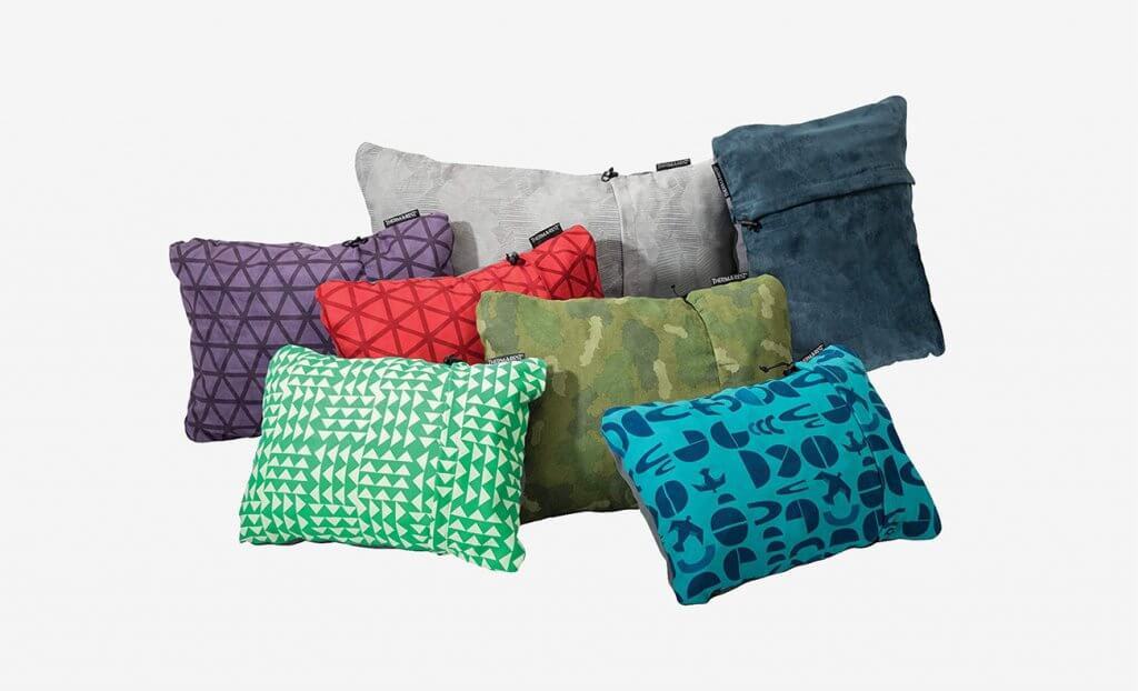Color variations of the Therm-a-Rest Compressible Travel Pillow