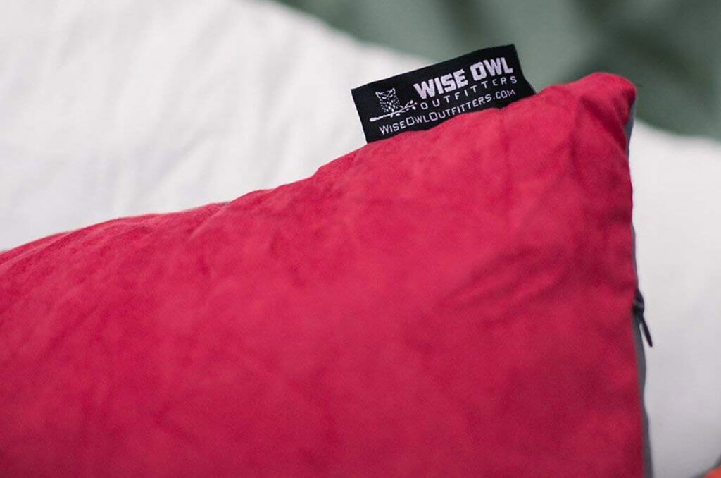 Close-up of the Wise Owl Outfitters Camping Pillow