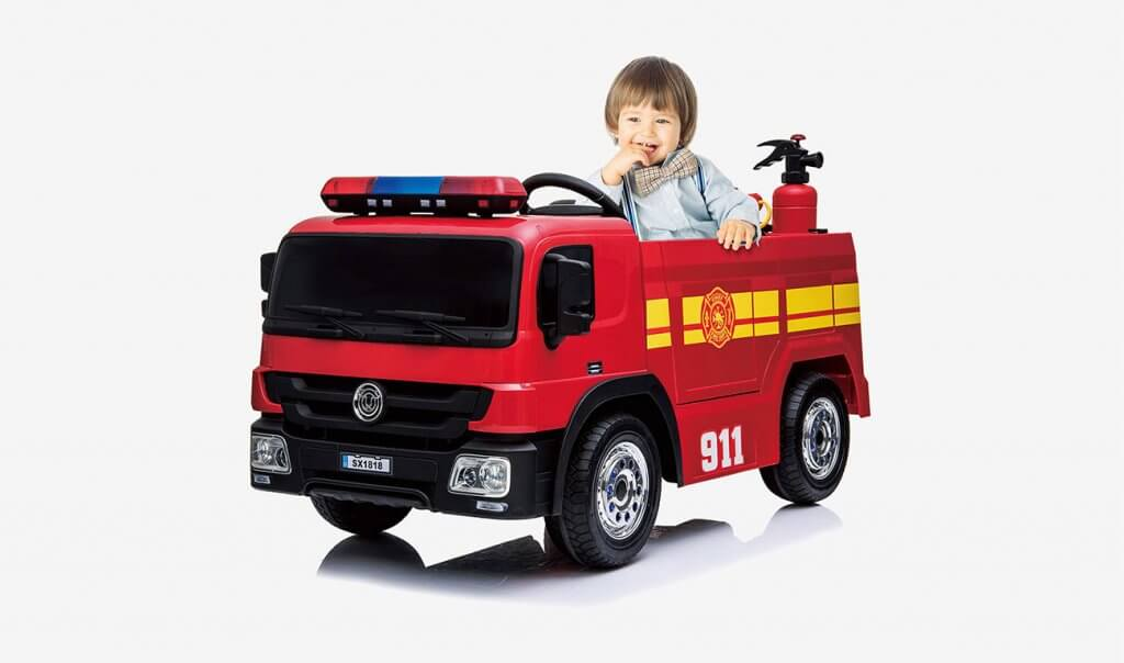 kidsclub Ride-On Fire Truck Toy