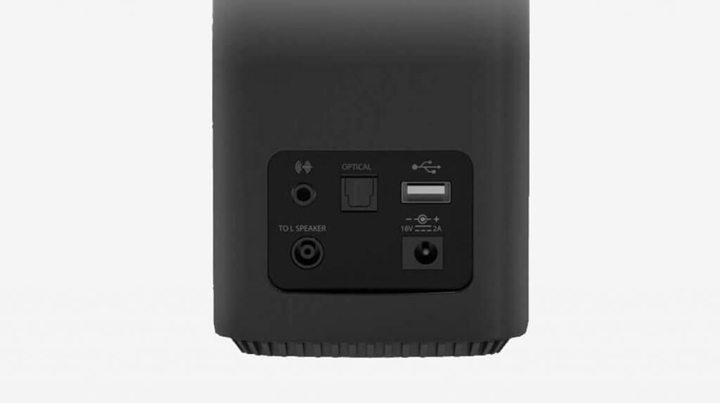 Creative T100 2.0 Compact Hi-Fi Desktop Speakers inputs