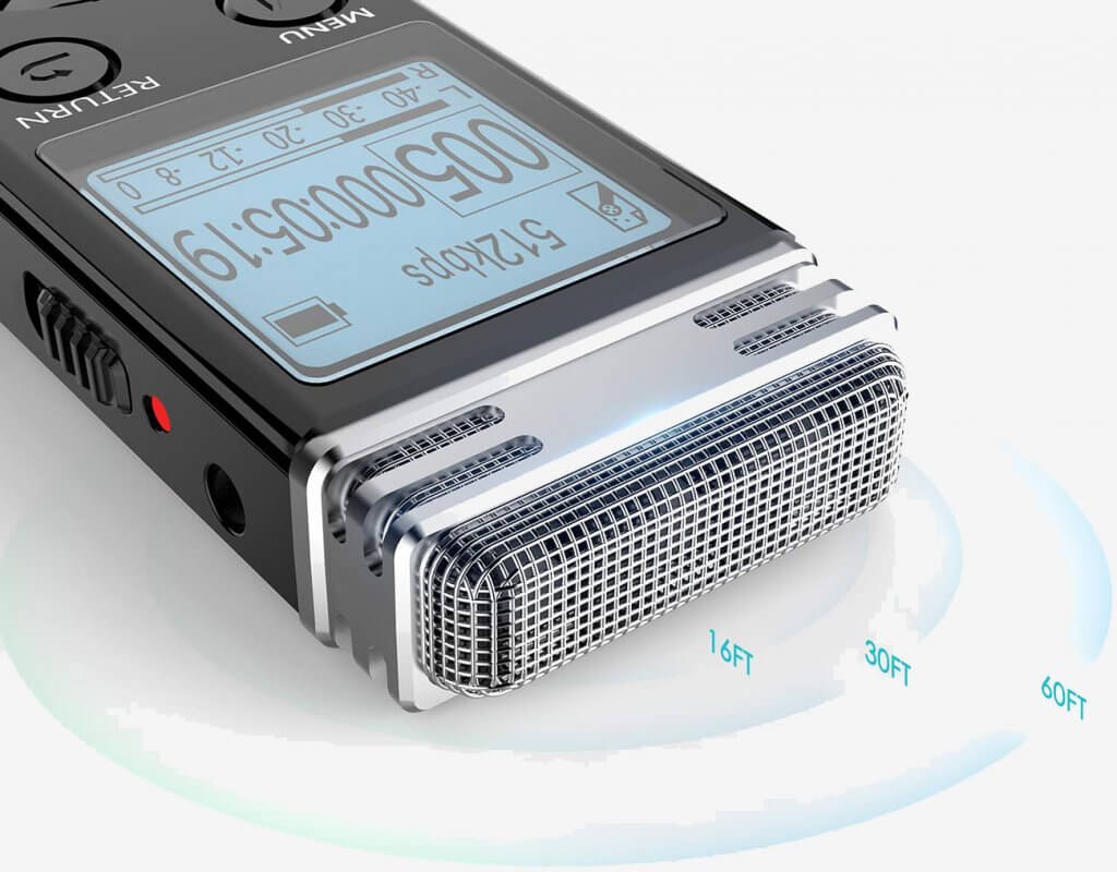 EVISTR V508 16gb Digital Voice Recorder