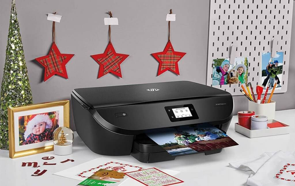 HP ENVY Photo 6222 Wireless All-in-One Printer on desk