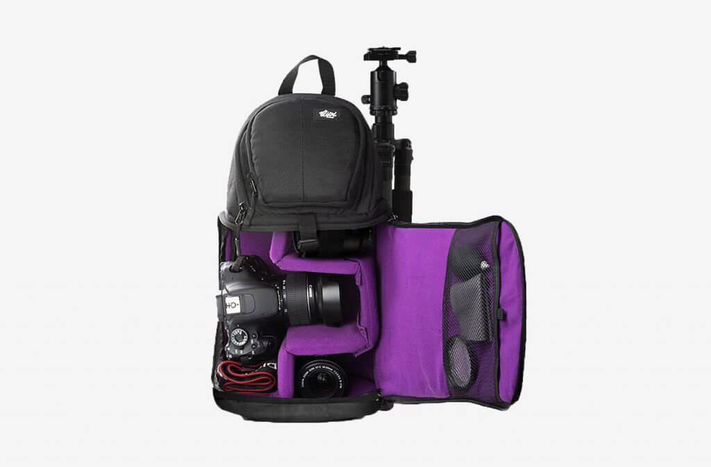 Qipi E00452 Sling Bag Camera Case Backpack open