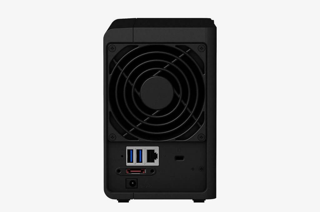 Synology 2 bay NAS DiskStation DS218+ back