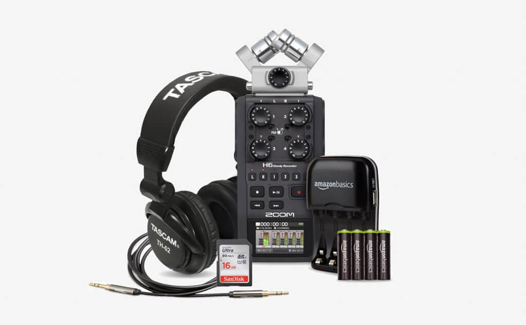 Zoom H6 Six-Track Portable Recorder Deluxe bundle
