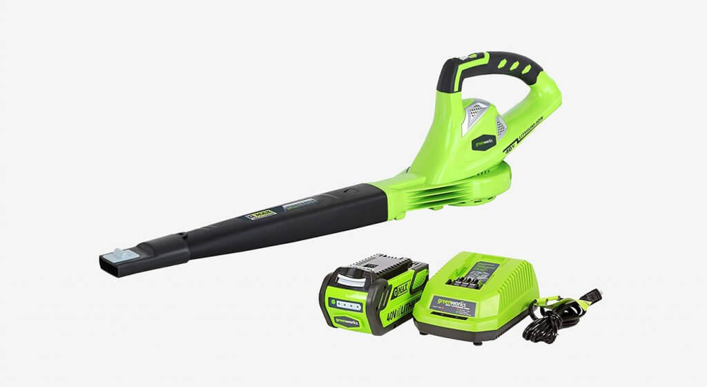 Greenworks 24212 40V 150 MPH Cordless Leaf Blower, 4.0Ah Battery, and Charger Included