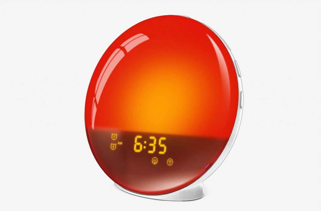 LATME G-1 White Sunrise Alarm Clock