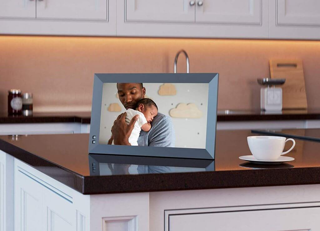 NIX X13D 13.3 Inch USB Digital Picture Frame in kitchen