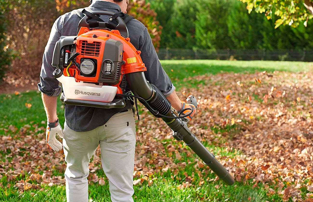 Leaf Blower in the garden