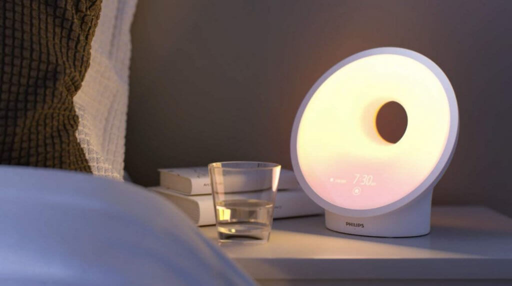 Philips SmartSleep HF367060 next to bed