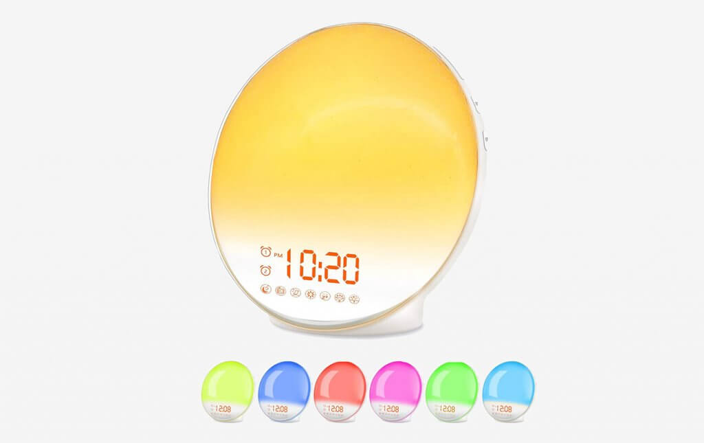 Wake Up Light Sunrise Alarm Clock By Jall